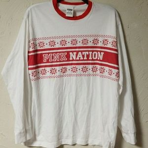 VS PINK Nation Chistmas shirt cute